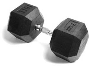 York Rubber Hex Dumbbell (115LB)